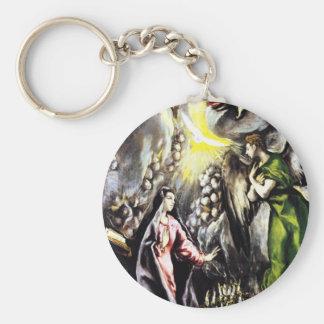 El Grecoの告知の聖母マリアのキーホルダー キーホルダー