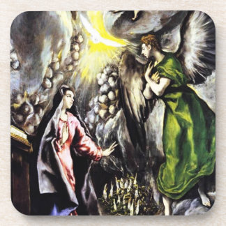 El Grecoの告知の聖母マリアのコースター コースター