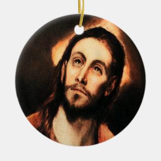 El Grecoイエス・キリストのクリスマスのオーナメント セラミックオーナメント