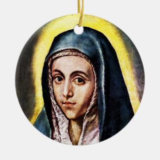 El Greco聖母マリアのクリスマスのオーナメント セラミックオーナメント
