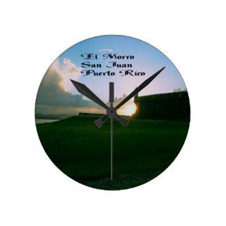 El Morroの城砦、サンファンプエルトリコ ラウンド壁時計