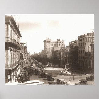 El Prado de La Habanaの20年代Fotoアンチグア ポスター