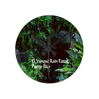 El Yuniqueの雨林 ラウンド壁時計