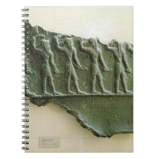 Elamiteの戦士の行列、Susa、イラン、Elamit ノートブック