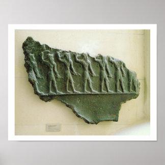 Elamiteの戦士の行列、Susa、イラン、Elamit ポスター