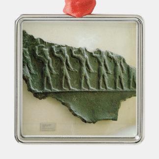 Elamiteの戦士の行列、Susa、イラン、Elamit メタルオーナメント