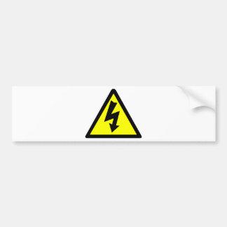 Electicityの警告を表す記号 バンパーステッカー