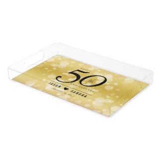 Elegant 50th Golden Wedding Anniversary アクリルトレー