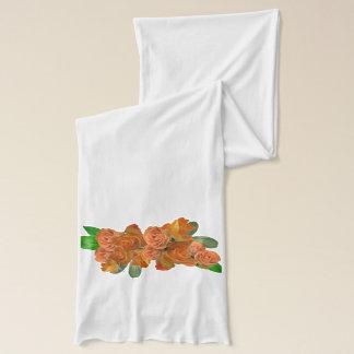 Elegant apricot roses スカーフ