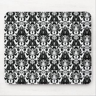 Elegant Black & White Damask マウスパッド