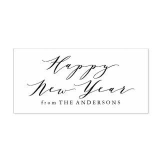 Elegant Happy New Year | Return Address Stamp ラバースタンプ