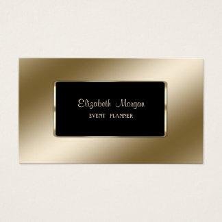Elegant Luxury Stylish,Modern,Black Frame 名刺