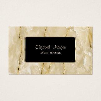 Elegant Luxury Stylish,Modern,Black Frame,Marble 名刺