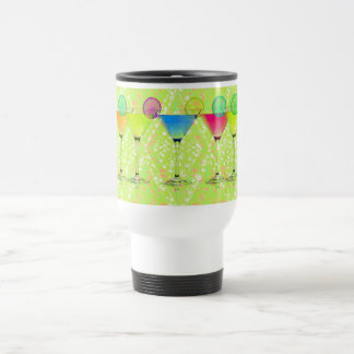Elegant-Martini-Lime_Harlequin-Floral_Colorful トラベルマグ