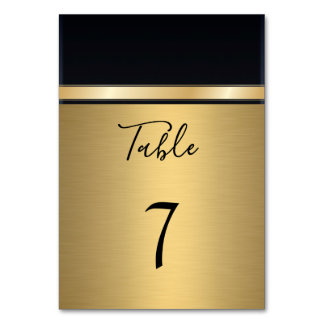 Elegant modern gold/black wedding カード