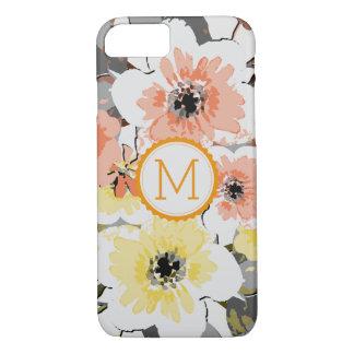 Elegant Monogram Vintage Floral #23 iPhone 8/7ケース