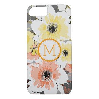 Elegant Monogram Vintage Floral #29 iPhone 8/7ケース