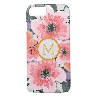 Elegant Monogram Vintage Floral #31 iPhone 8/7ケース