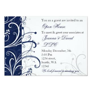 elegant navy Corporate party Invitation カード