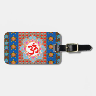 Elegant OmMANTRA Mantra: Yoga Meditation Healing A ラゲッジタグ