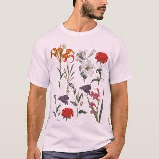 ELEGANT RETRO FLOWERS PATTERN Tシャツ