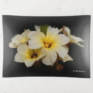 Elegant Satin Flowers トリンケットトレー