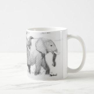 Elepephantsの覆い コーヒーマグカップ