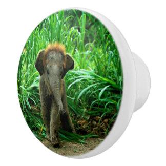 Elephant and Grass セラミックノブ