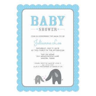 Elephant Baby Shower Invitation 12.7 X 17.8 インビテーションカード