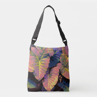 Elephant Leaves in Tropical Pastels クロスボディバッグ