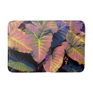 Elephant Leaves in Tropical Pastels バスマット