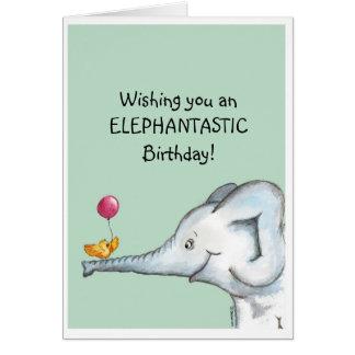 Elephantasticの誕生日の願い カード