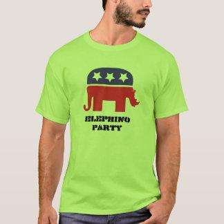 Elephinoのパーティー Tシャツ