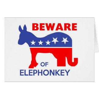ELEPHONKEYの-実行主義か自由意志論者または米国用心して下さい カード