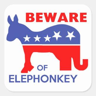 ELEPHONKEYの-実行主義か自由意志論者または米国用心して下さい スクエアシール