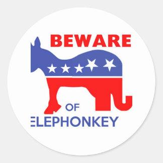 ELEPHONKEYの-実行主義か自由意志論者または米国用心して下さい ラウンドシール