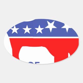 ELEPHONKEYの-実行主義か自由意志論者または米国用心して下さい 楕円形シール