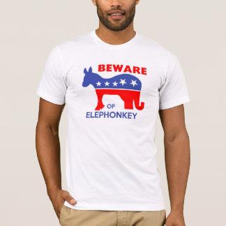 ELEPHONKEYの-実行主義か自由意志論者または米国用心して下さい Tシャツ