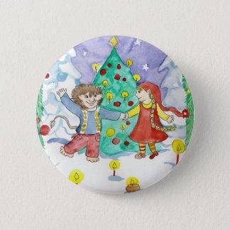 Elfdanceボタン 5.7cm 丸型バッジ
