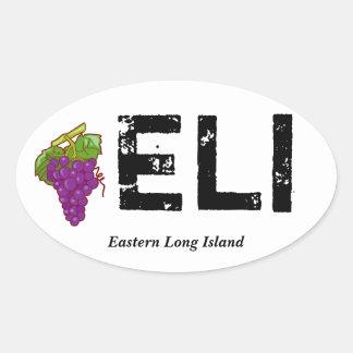 ELiの東のロングアイランドのバンパーステッカー 楕円形シール