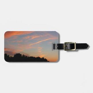 Elkridgeの日没のメリーランドの景色 ラゲッジタグ