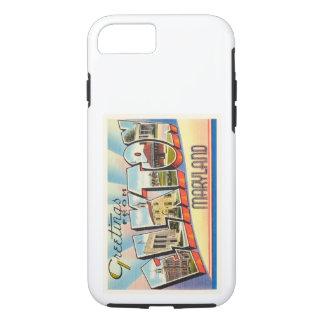 ElktonメリーランドMDの古いヴィンテージ旅行郵便はがき iPhone 7ケース
