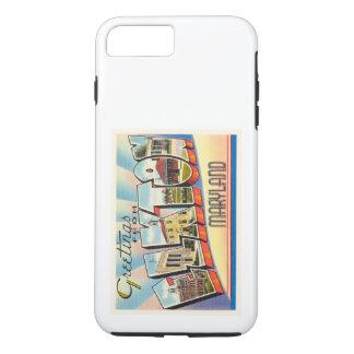 ElktonメリーランドMDの古いヴィンテージ旅行郵便はがき iPhone 8 Plus/7 Plusケース