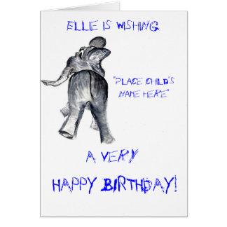 Ellieのバースデー・カード(男の子) カード