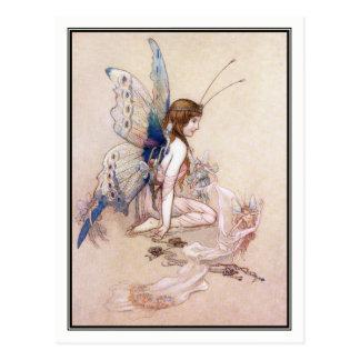 EllieはWarwick Gobleによって彼女に翼を得ます ポストカード
