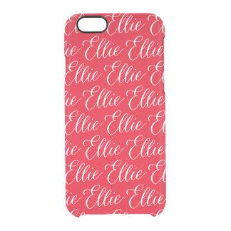 Ellie -モダンな書道の名前のデザイン クリアiPhone 6/6Sケース