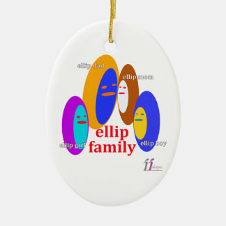 Ellip家族Collaction - IIデザイン セラミックオーナメント