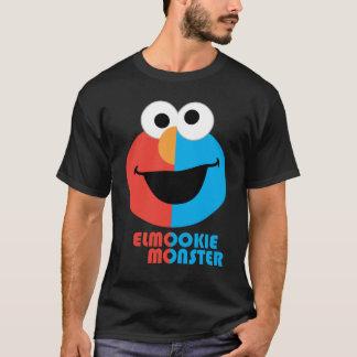 Elmoおよびクッキーの半分の顔 Tシャツ