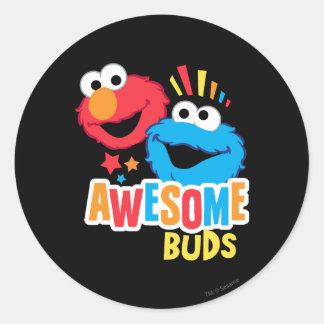 Elmoおよびクッキーの素晴らしい芽 ラウンドシール