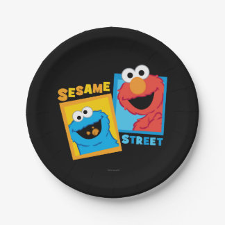 Elmoおよびクッキーモンスターの友人 ペーパープレート